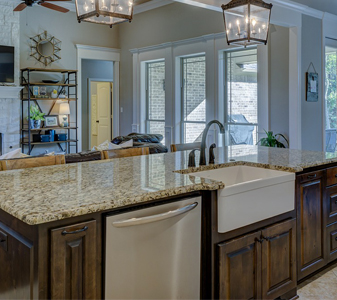 Wadsworth carries beautiful cabinets, coordinating fixtures, modern and timeless backsplashes, durable and stunning countertops